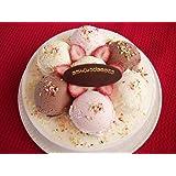 バースデーアイスケーキ 5号【誕生日プレートが選べる3種類】 (おたんじょうび おめでとう)