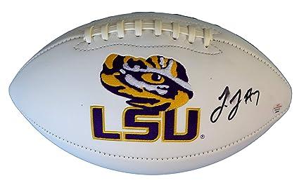 9cbe62549 Leonard Fournette LSU Tigers Signed Autographed White Panel Logo Football PAAS  COA