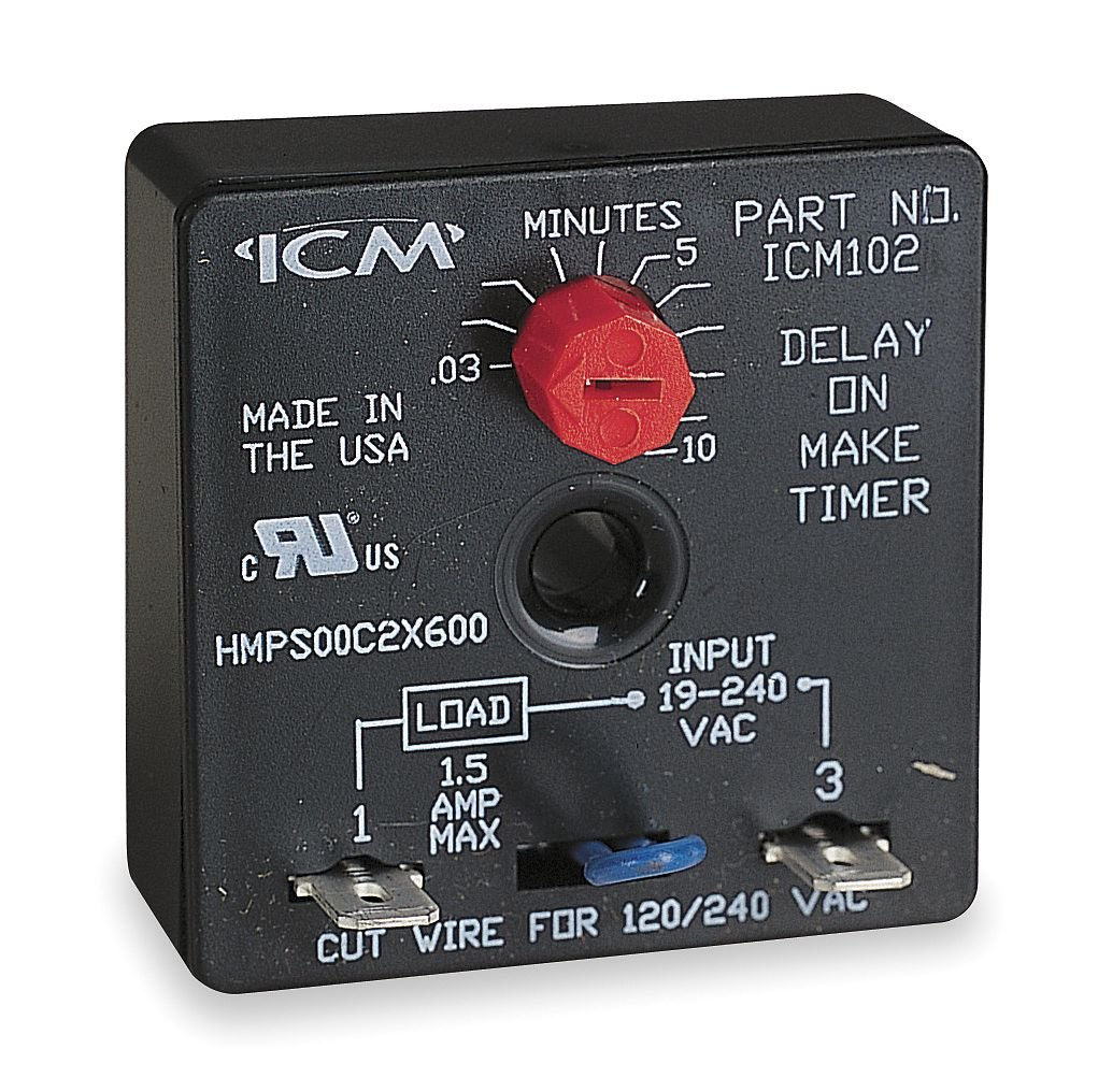 Icm253 Icm Control Time Delay Products T Circuit Board Wiring Diagram Amazoncom Icm102b Aftermarket Replacement Adjustable On Make 6 Sec To 8 Min Industrial Scientific