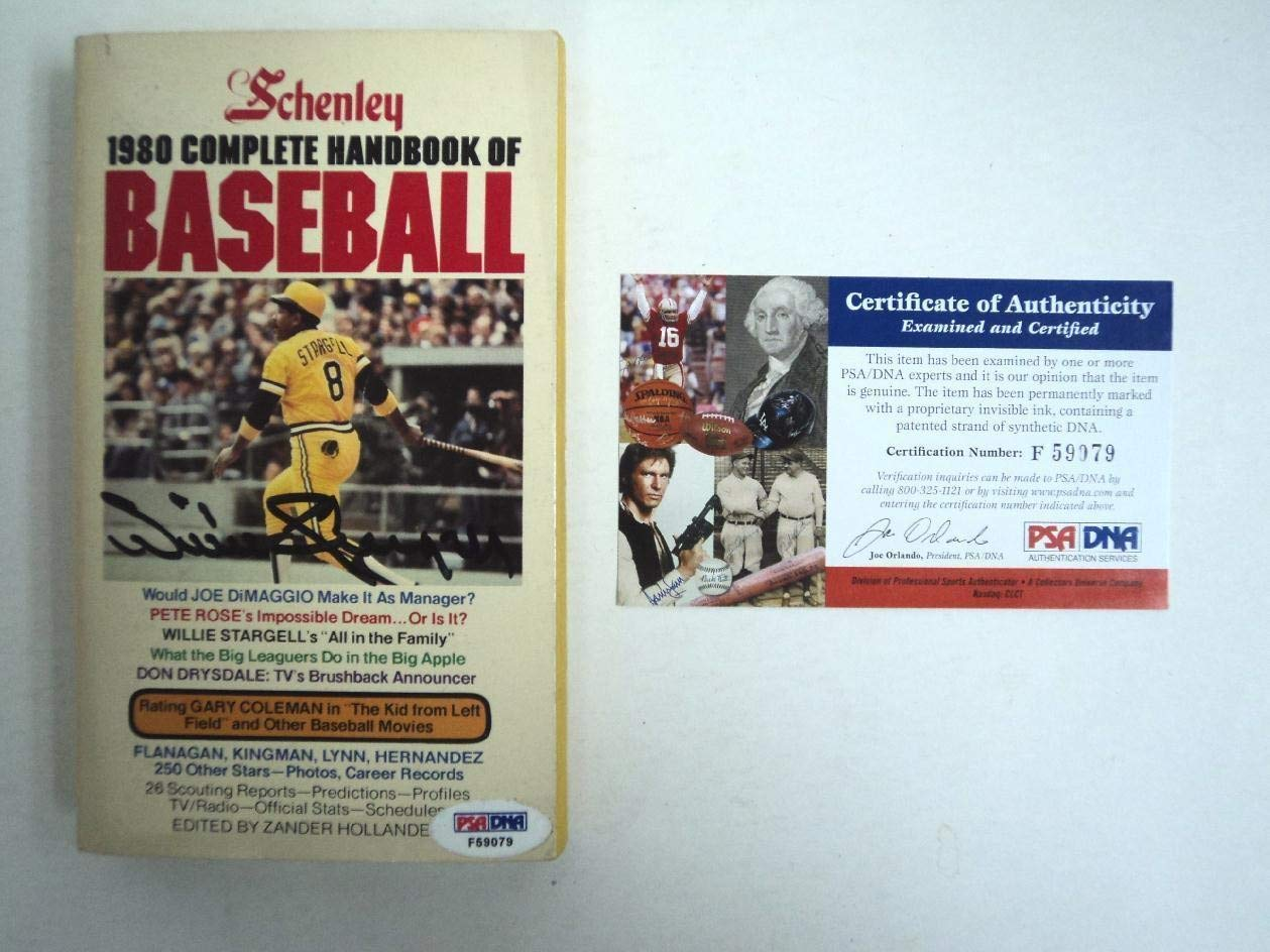 1980 Book Willie Stargell Autographed Signed Pirates PSA/DNA Authentic Flash Sale