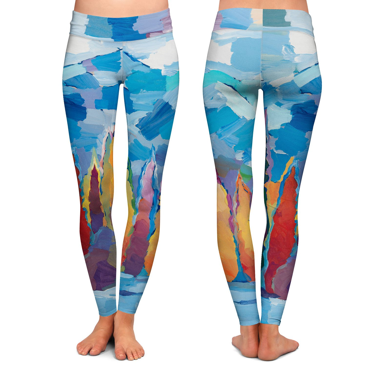 Athletic Yoga Leggings from DiaNoche Designs by Hooshang Khorasani Streamside Gathering