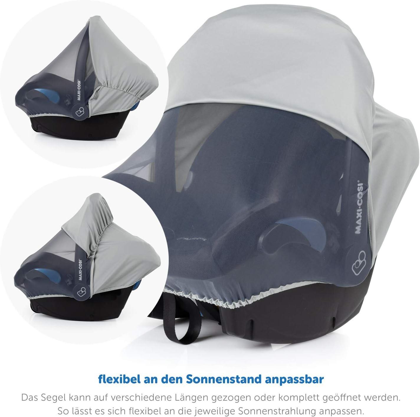 | Toldo solar con Protecci/ón UV gris Zamboo Cubierta 3 en 1 para Grupo 0+ se adapta a Maxi-Cosi//Cybex//R/ömer Mosquitera y Funda de asiento