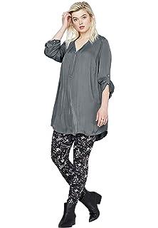 1X Ellos Women/'s Plus Size Leggings Black