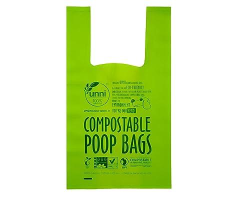 UNNI 100% Biodegradable compostable Impulso de Bolsas, a Prueba de ...