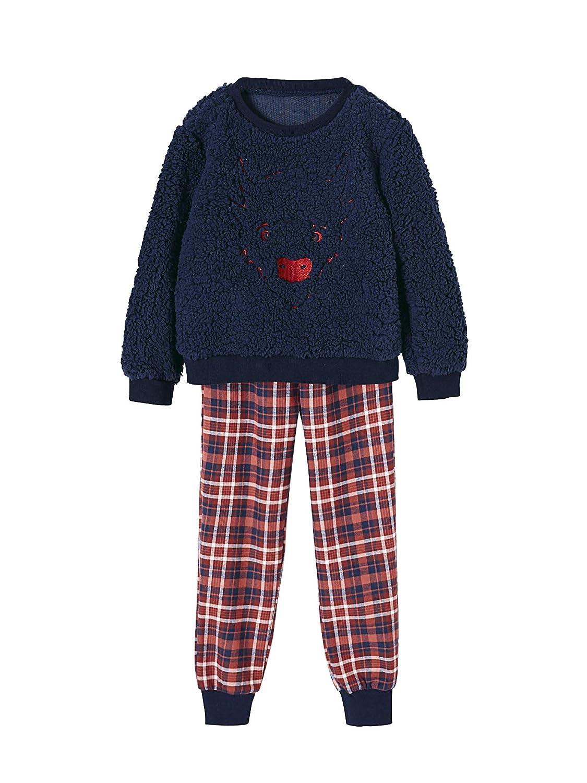 Vertbaudet Warmer Pyjama fü r Jungen, Bison