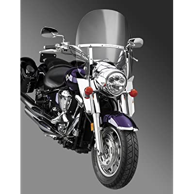 National Cycle Switchblade 2-Up Windshield (Clear) for 04-09 Honda VTX1300C: Automotive