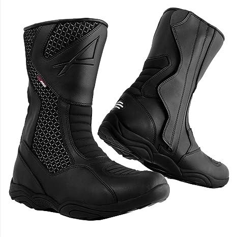 nuovo stile 403be e8a4e A-Pro Stivaletto Moto Basso Impermeabile Stivali Touring Calzature Turismo  Nero 42