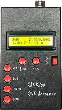 Roeam SWR Antena Analizador, SARK100 Antena HF Medidor,Alta Precision Onda Corta Analizador de Radio Aficionado Metro de Onda ...