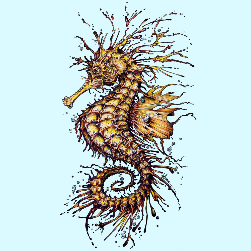 Seahorse Boys Youth Graphic T Shirt Design By Humans