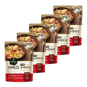 [ 5 Packs ] CJ Bibigo Korean Ham Budae jjigae stew 비비고 부대찌개 460g