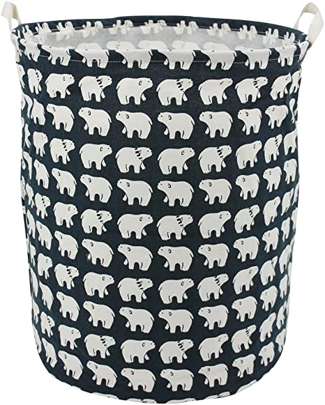 Foldable Storage Laundry  Clothes Basket Cotton Waterproof Toy   US US