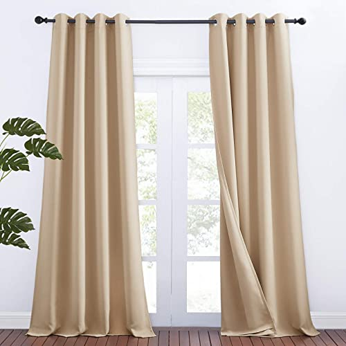 NICETOWN Noise Reducing Room Divider High Ceiling Window Curtains