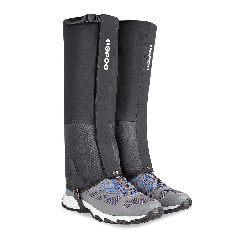 ZOTO Leg Gaiters, Snow Boot Gaiters Anti-Tear and Waterproof Gaiters for Hiking Walking Climbing Mountain