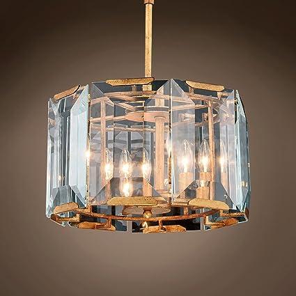 """Restoration Revolution 701634-002 Harlow 4 Crystal Glass Chandelier Hanging  Ceiling Light, 17"""" - Restoration Revolution 701634-002 Harlow 4 Crystal Glass Chandelier"""
