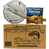 Whirley-Pop Popcorn Popper Kit - Metal Gear - Silver - 1 Real Theater All Inclusive Popping Kit