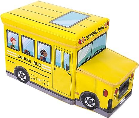 Bieco 04000506 - Caja para juguetes con asiento (aprox. 55 x 26,5 ...