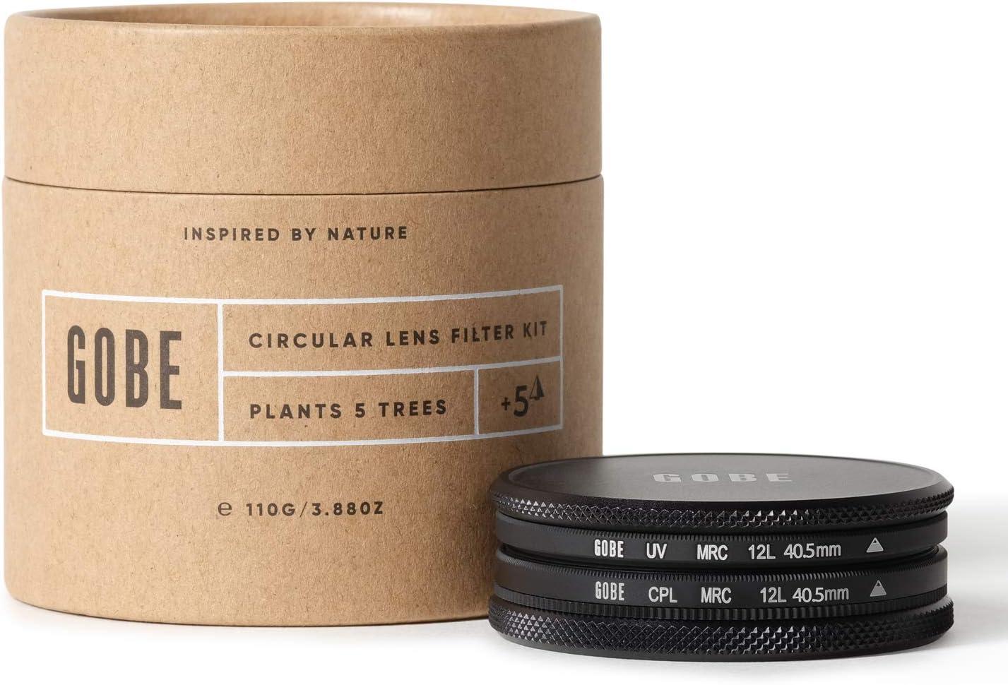 Gobe 40.5mm UV + Circular Polarizing (CPL) Lens Filter Kit (1Peak)
