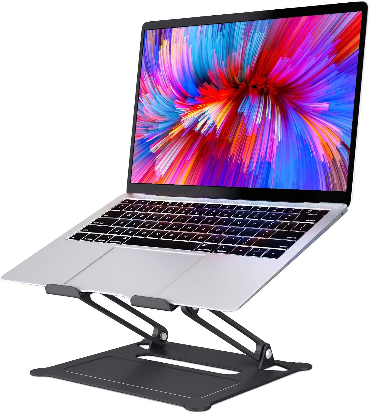 SAVFY Laptop Stand, Ergonomic Multi-Angle Height Adjustable Laptop Stand Holder, Aluminum Light Weight Adjustable Laptop Stand for 10''-17'' MacBook, iPad, Notebook, Tablet