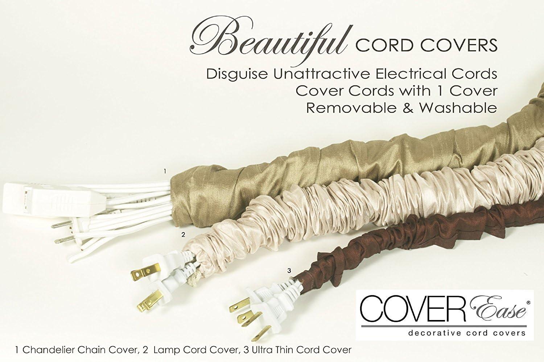 Decorative Black Chain Light Fixture Cord Cover 5 Feet
