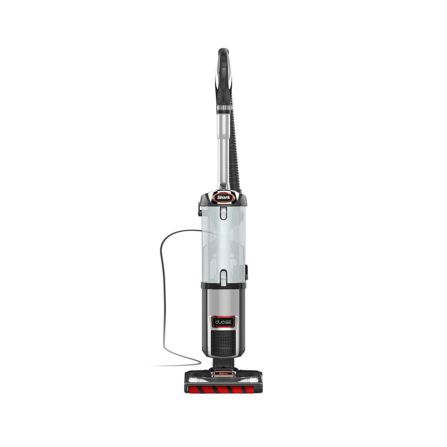 Shark DuoClean Upright Vacuum for Carpet and Hard Floor with Pet Tool, HEPA Filter and Anti-Allergy Seal (NV202), Gray