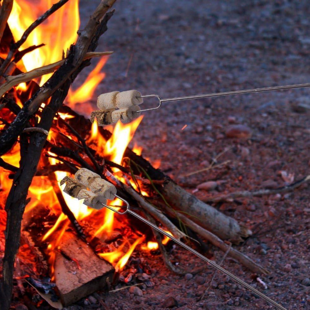 Marshmallow Roasting Sticks 8 Extending Hot Dog Skewers for Campfire Camping Bonfire BBQ JU-B037SK