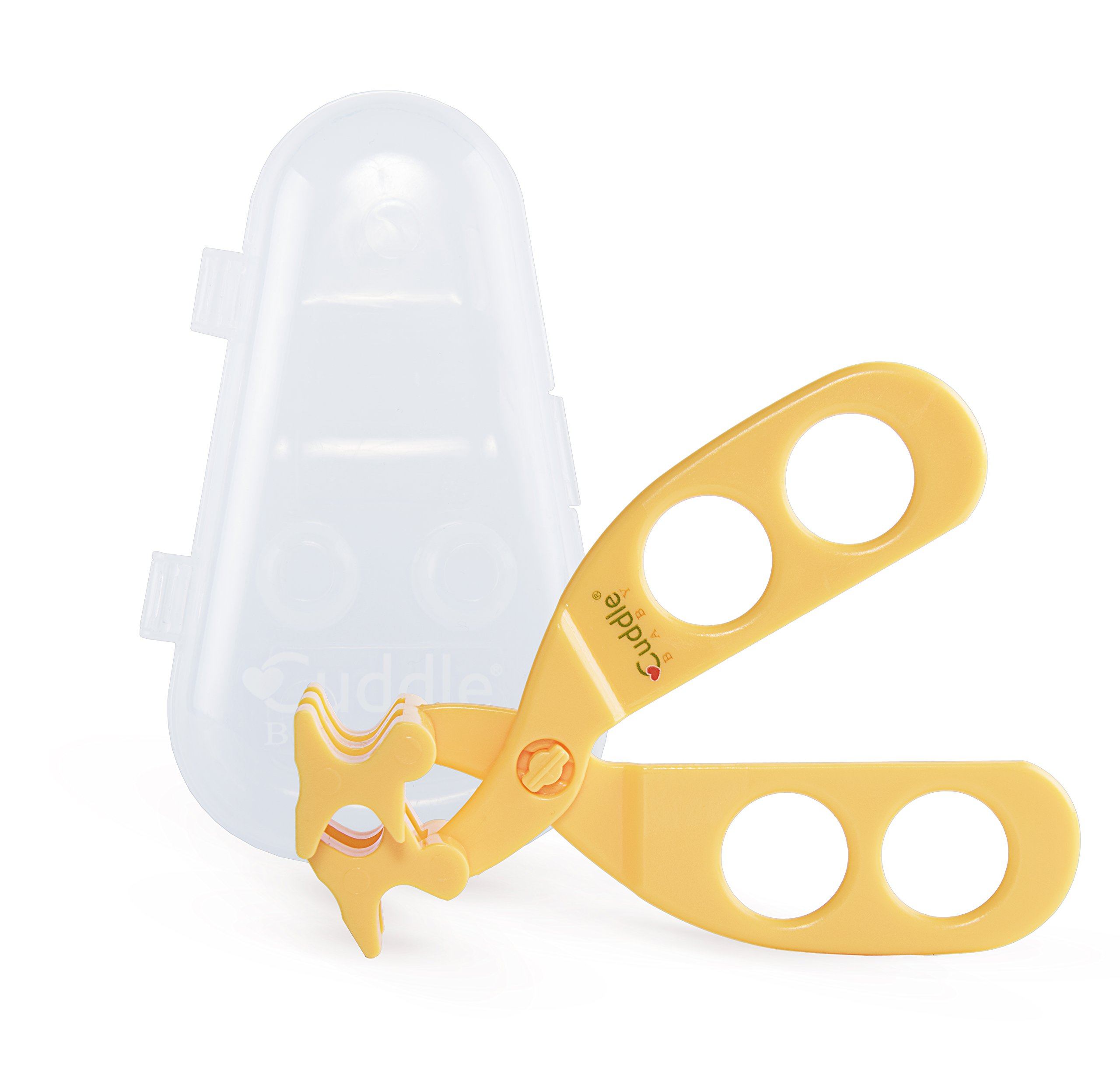 Cuddle Baby Portable Food Scissor Cutter Masher Chopper, Home and Kitchen Food Slicer Shears (Comes with Travel Storage Case) – Sunny Yellow