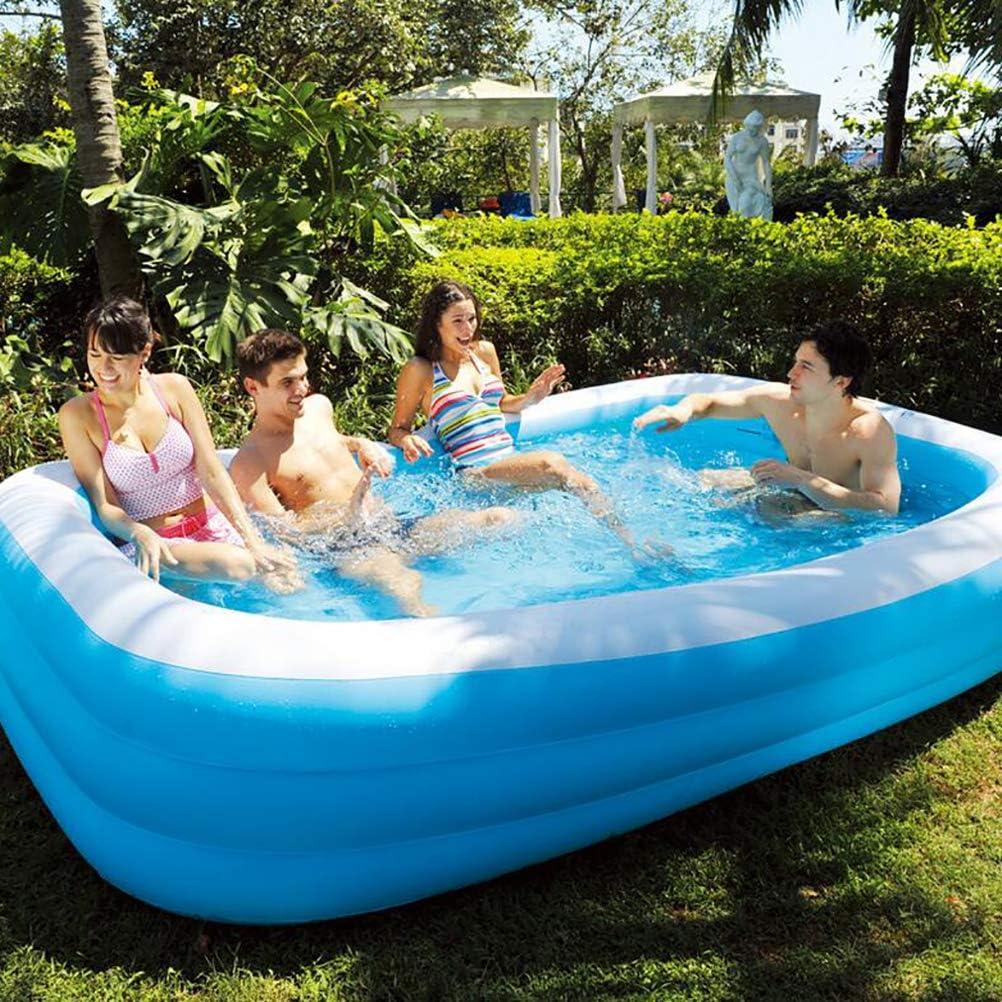 LBWNB Piscina Hinchable Piscina De Agua De Verano Piscina Hinchable Familiar Swim Center PVC Piscina De Bolas Marinas Gruesa Y Duradera, para Niños Azul 120 * 72 * 22in: Amazon.es: Deportes y aire libre