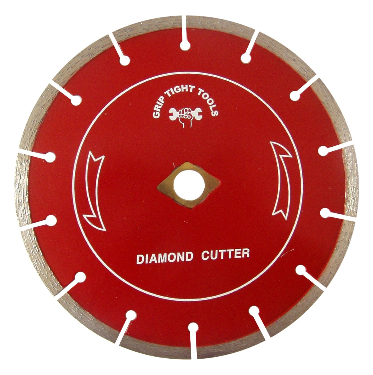 Grip Tight Tools Professional Quality Segment Cut Diamond Blade For Concrete, Granite and Marble, 7-Inch (Dry)