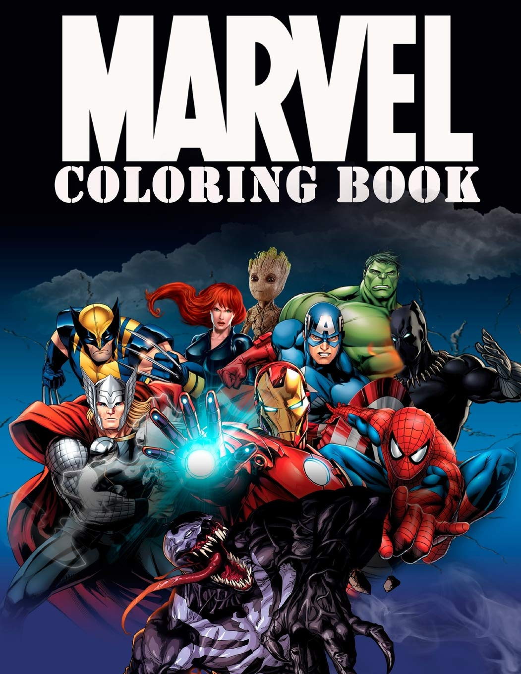 Amazon.com: Marvel Coloring Book: Super Heroes, Avangers, Spider-Man ...