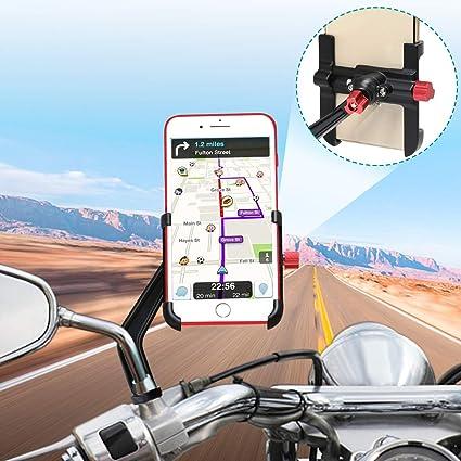 Soporte Móvil Moto Aluminio 360° Rotación Soporte Movil Scooter ...