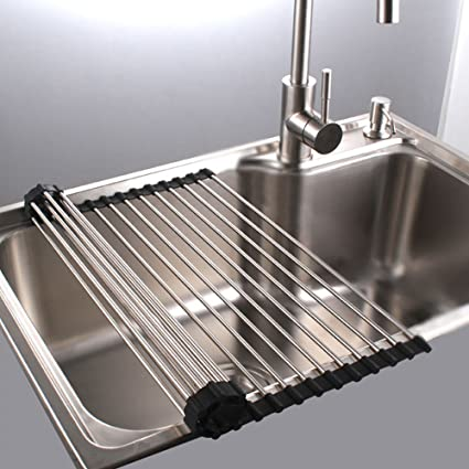 Amazon.com - Roll Up Dish Drying Rack in Sink Stainless Steel ...