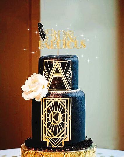 Amazon.com: LaVenty Decoración para tarta de 30 cumpleaños ...