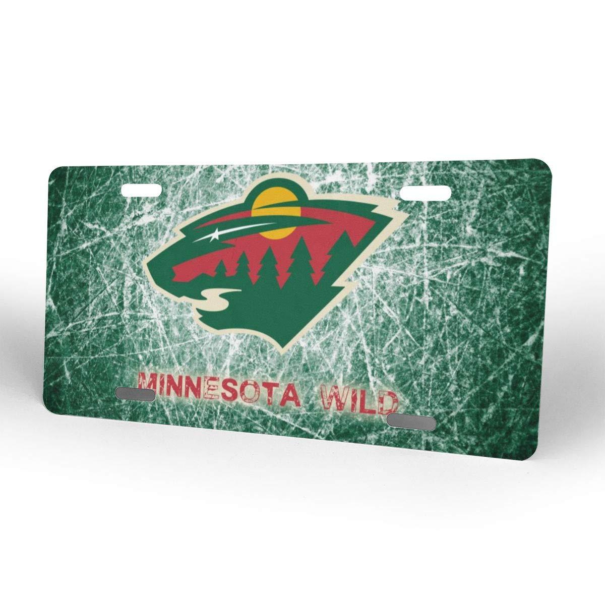 Greicmn NHL Minnesota Wild 6 x 12 inch Metal License Plate Frame