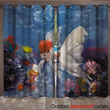 Amazon com : BlountDecor Outdoor Blackout Curtain Redcap Oranda