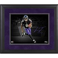 "$79 » Lamar Jackson Baltimore Ravens Framed 11"" x 14"" Spotlight Photograph - Facsimile Signature - NFL Player Plaques and Collages"
