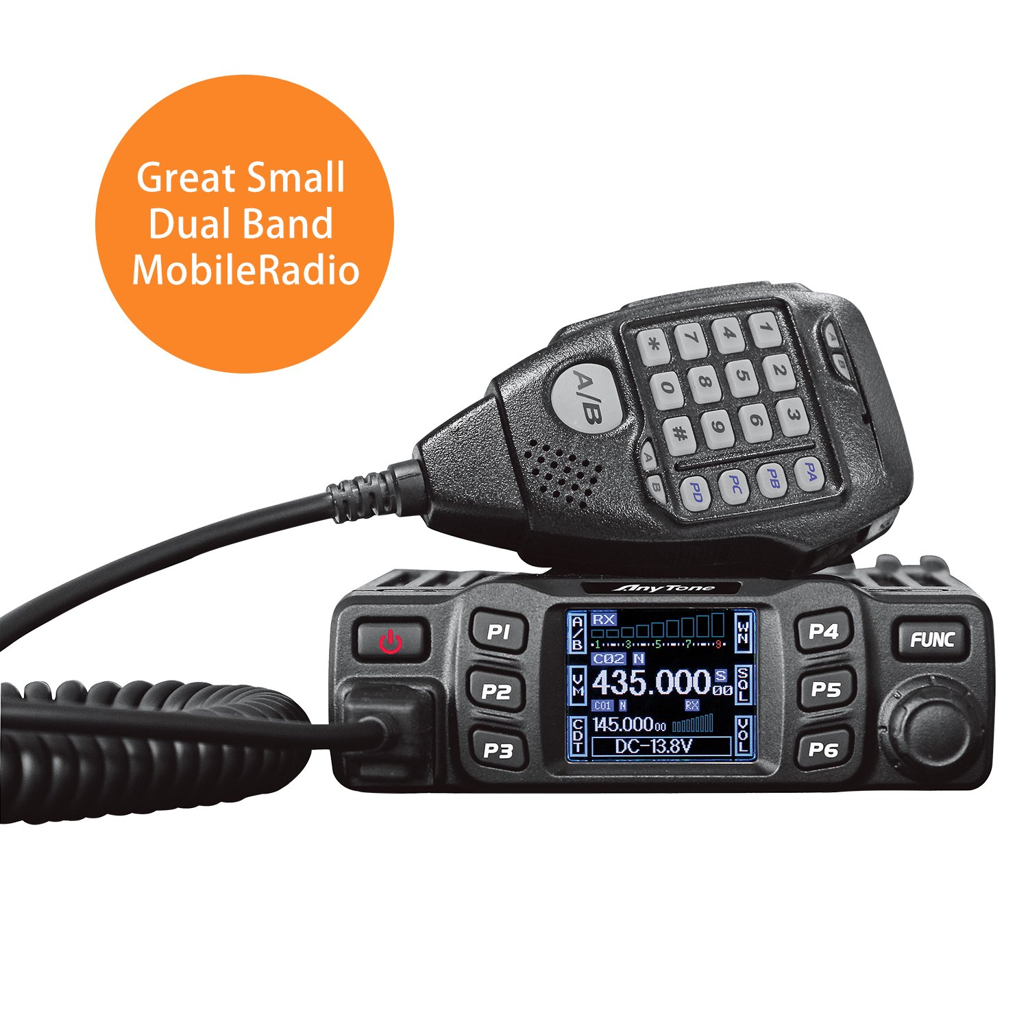 AnyTone AT-778UV Dual Band Transceiver Mobile Radio VHF/UHF Two Way and Amateur Radio by AnyTone