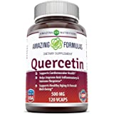 Amazing Formulas - Quercetin 500 Mg 120 Vcaps - Supports Cardiovascular Health - Helps Improve Anti-inflammatory & Immune Response
