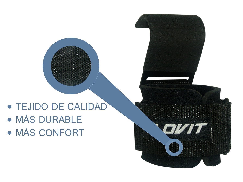 LOVIT - Muñequeras con gancho para levantamiento de pesas: Amazon.es: Deportes y aire libre