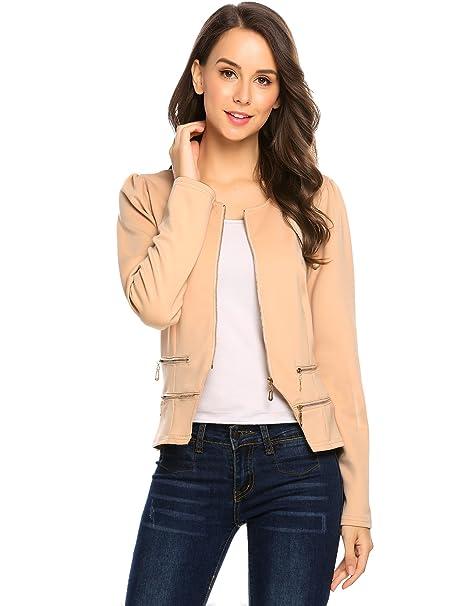Amazon.com: Comfi1 - Chaqueta de trabajo para mujer, estilo ...