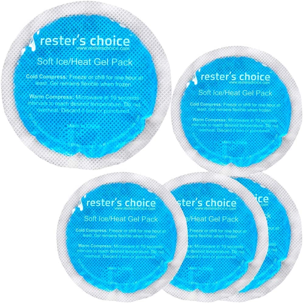 Gel Cold & Hot Packs (5 Ice Packs) 3x5 in. Reusable Warm or Ice Packs for Injuries – Hot & Cold Compress for Swelling, Bruises, Surgery: Health & Personal Care