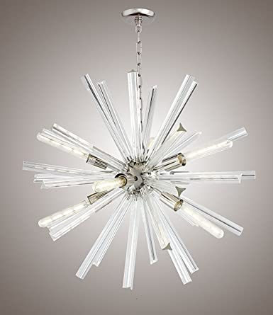 29 Inch Crystal Bar Ceiling Pendant Fixtures Chandelier Sputnik Axis Clear Glass Clear Glass 29