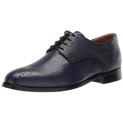 MARC JOSEPH NEW YORK Mens Leather Oxford Lace-Up Wingtip Dress Shoe, Navy Grainy, 13 M US   Oxfords