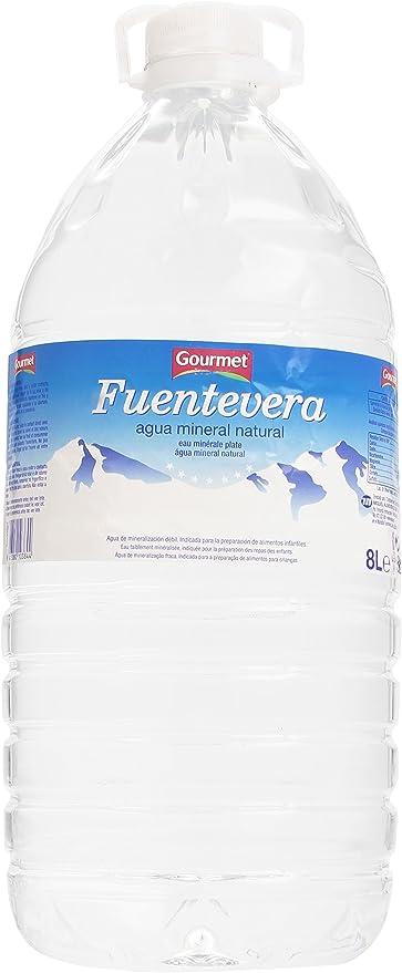 Gourmet - Fuentevera - Agua mineral natural - 8 l: Amazon.es: Alimentación y bebidas