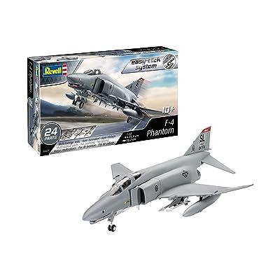 Revell 03651 F-4 Phantom (Easy-Click) Model Kit, Grey: Toys & Games