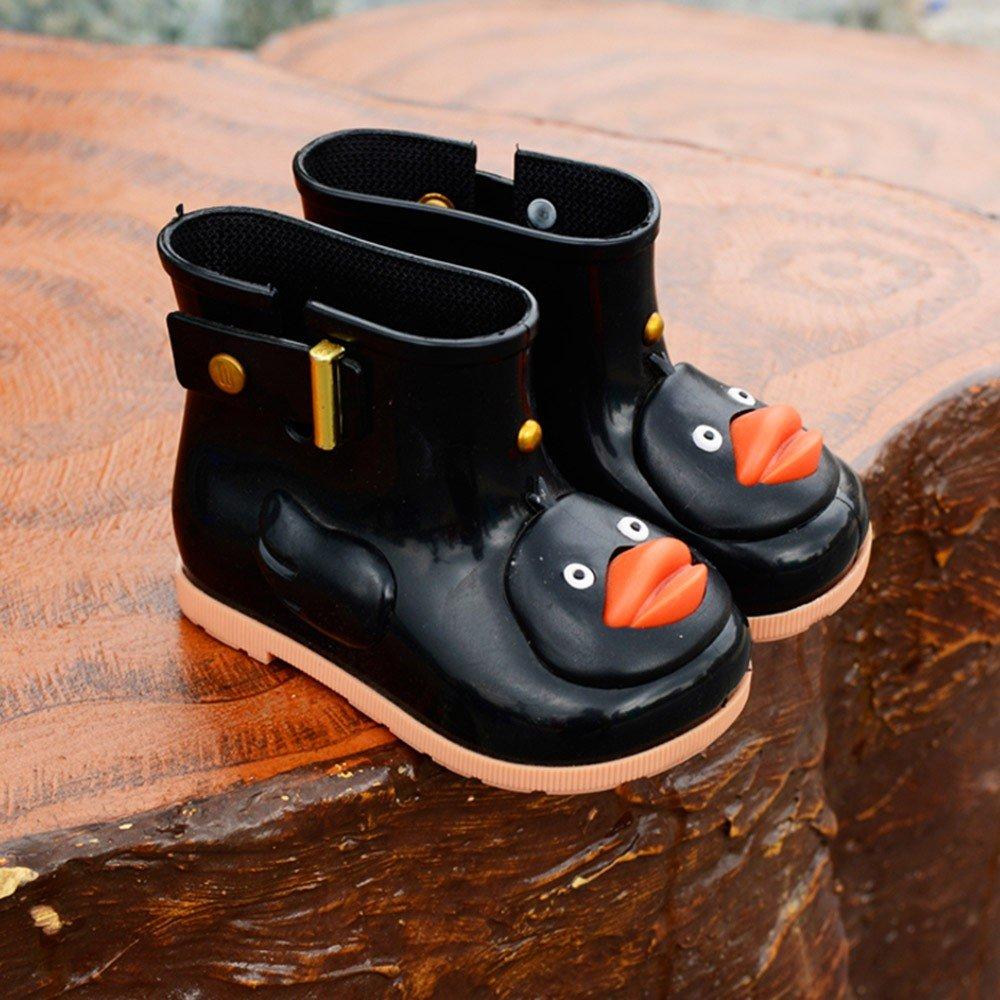 Age:12-24M, Blue Yezijin Infant Kids Children Baby Cartoon Duck Rubber Waterproof Warm Boots Rain Shoes Multi-Function Shoes