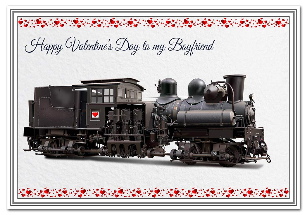 Tarjetas de San Valentín para él, diseño de tren inusual ...