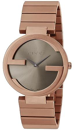 ee049f38e36d Amazon | [グッチ]GUCCI 腕時計 INTERLOCKING ブラウン文字盤 YA133317 ...