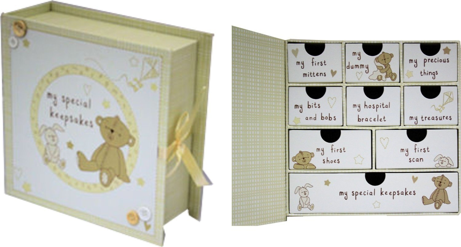 Baby scatola per souvenir e ricordi Card and Party Store Keep-Box