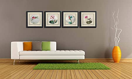 Silk Art 100 Handmade Embroidery Framed Mixed Group Lotus Drangonfly Birds Oriental Wall Hanging Art Asian Decoration Tapestry Artwork Picture Gifts 31051WF 31052WF 31053WF 31054WF
