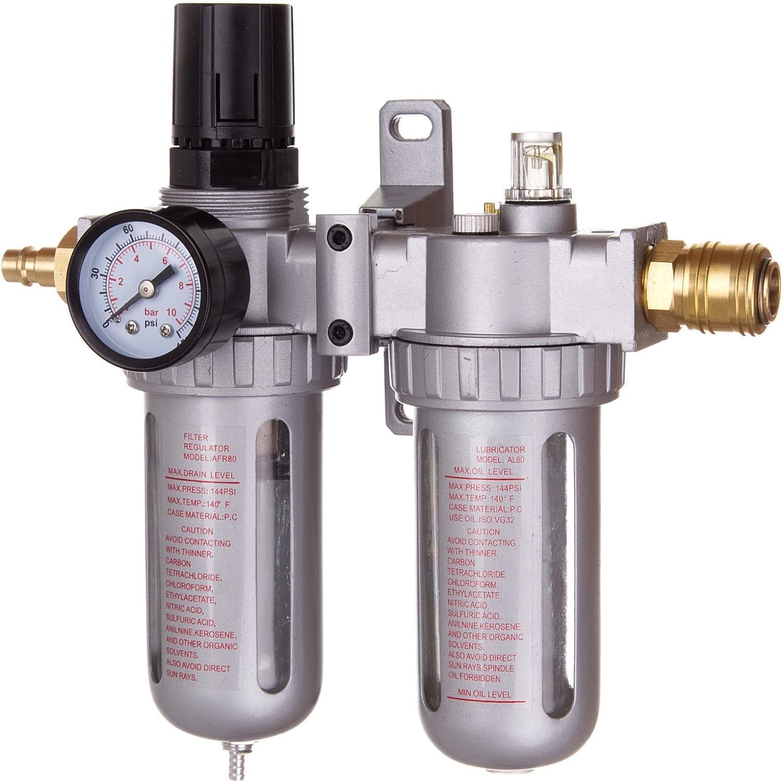 1//4 R/égulateur de Pression dAir Air Filtre R/égulateur Lubrificateur Pression dEau Compresseur S/éparateur dHuile Piege a Huile Raccord rapide